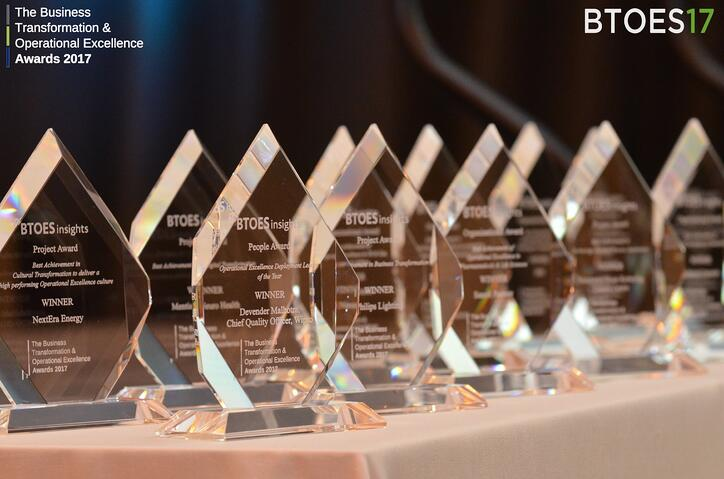Business Transformation & Operational Excellence Awards Trophies