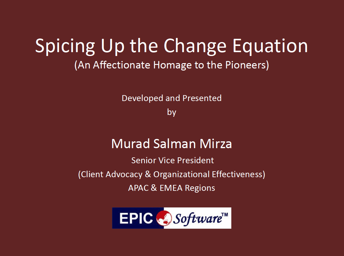 Spicing Up the Change Equation, Change management presentation slides on BTOES Insights