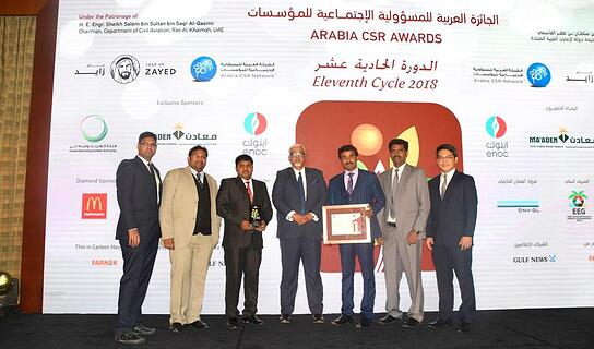 Excom Commitee at 11th Arabia CSR awards Cycle