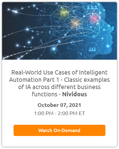 Real-World Use Cases of Intelligent Automation Part 1