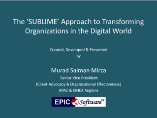 The SUBLIME approach to Transformating Organizations in the Digital World