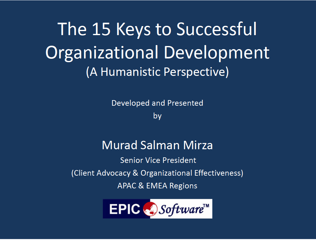 The 15 Keys to Successful Organizational Development (A Humanistic Perspective)