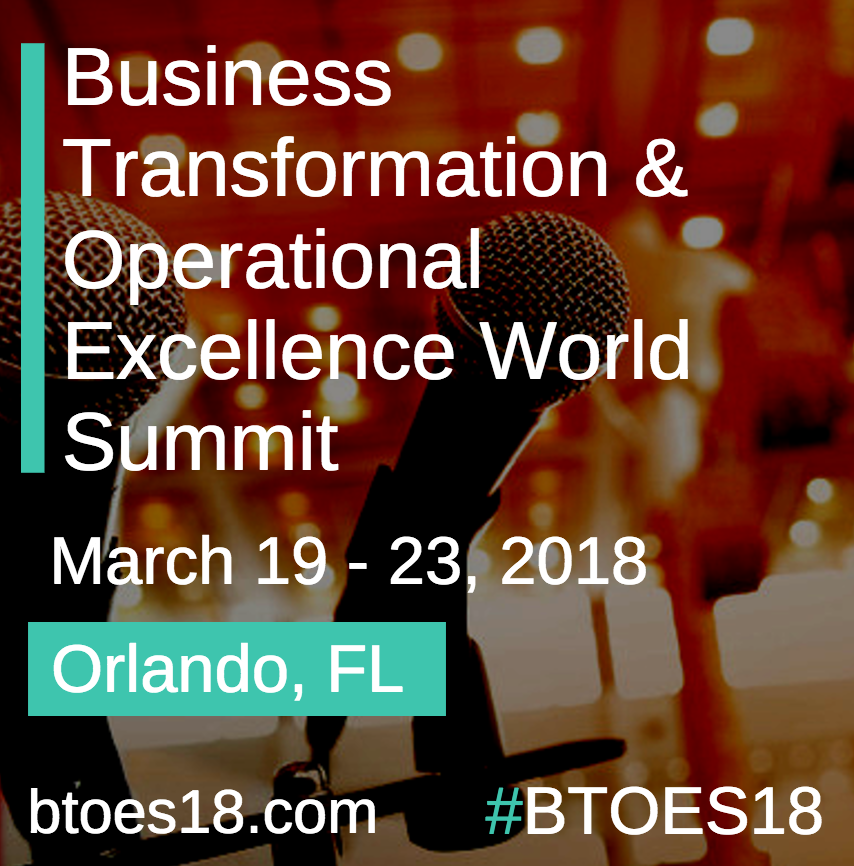 The Business Transformation & Operational Excellence World Summit & Industry Awards, Official Partner of BTOES Insights