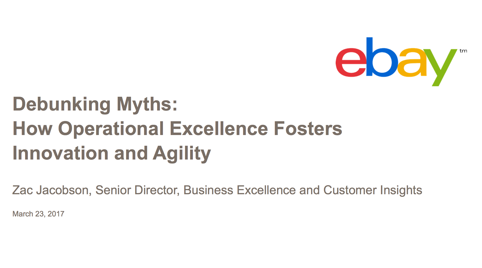 Debunking Myths: How Operational Excellence Forsters Innovation & Agility