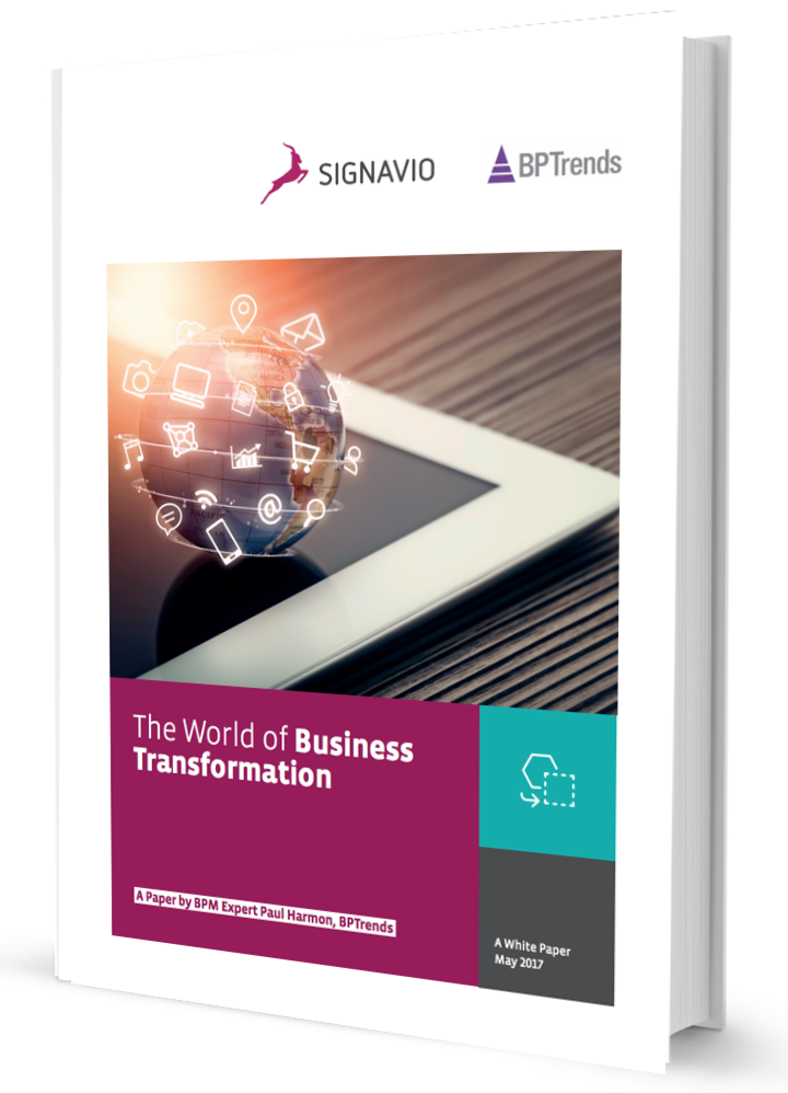 The World of Business Transformation: White paper from Signavio, PDF Download Article now