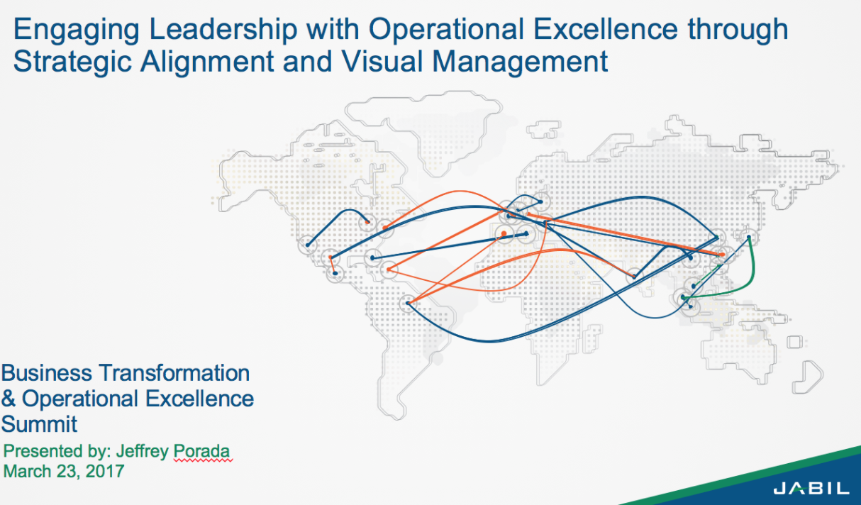 Engaging Leadership with Operational Excellence through Strategic Alignment  - Operational Excellence examples
