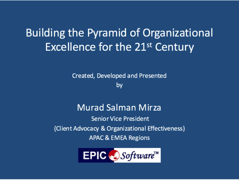 Organizational Excellence for the 21st Century