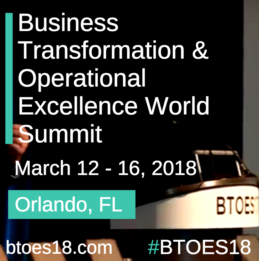 The Business Transformation & Operational Excellence World Summit, 2018