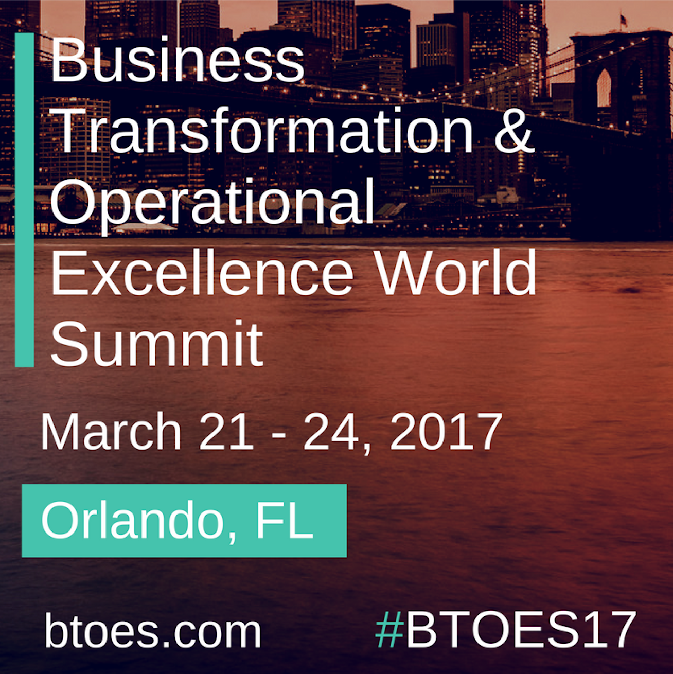 Official Media Partner: Business Transformation & Operational Excellence World Summit