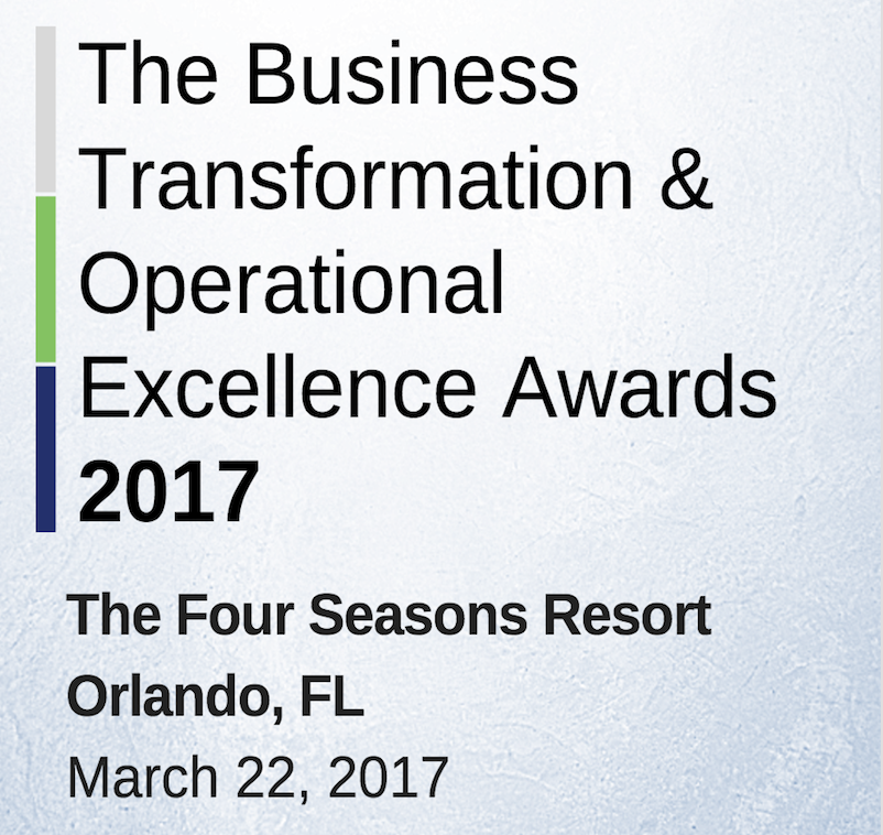 Business Transformation & Operational Excellence Awards