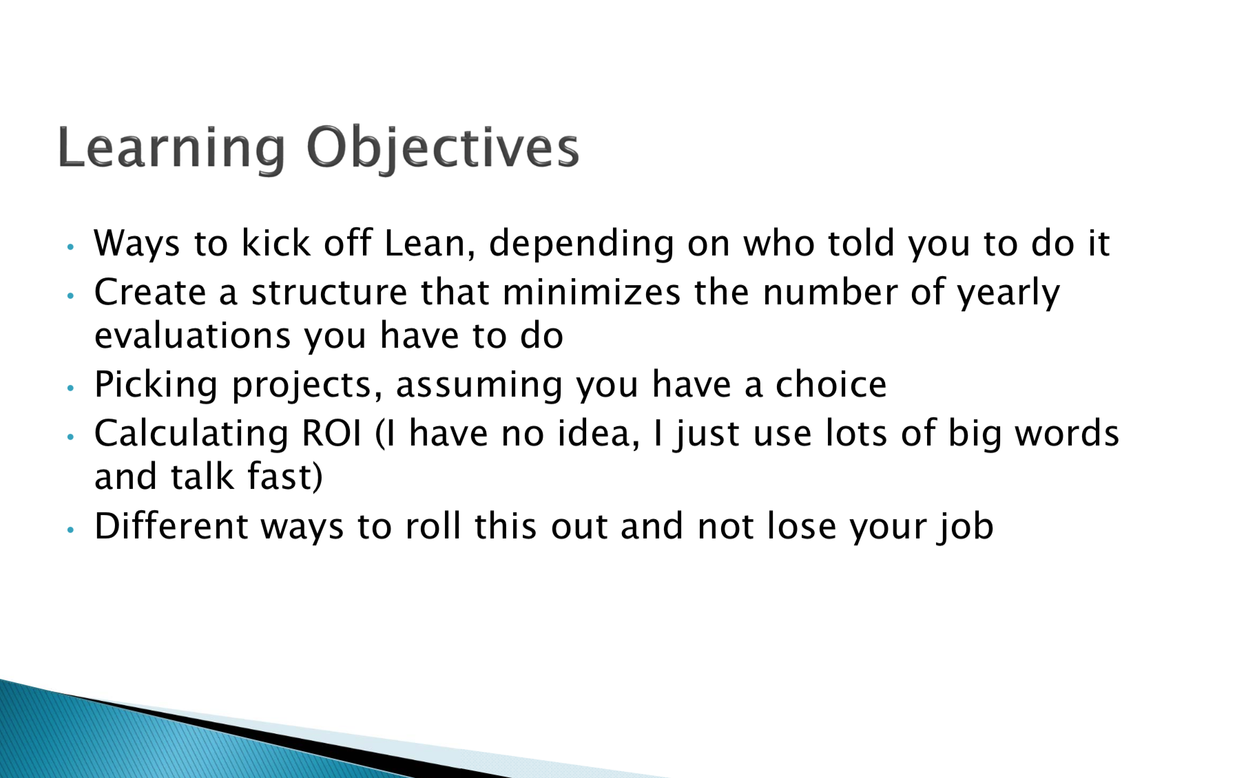 So You Want to Start Doing Lean…?