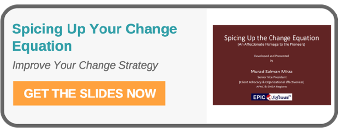 Spicing Up Your Change Equation - Improve your change management strategy