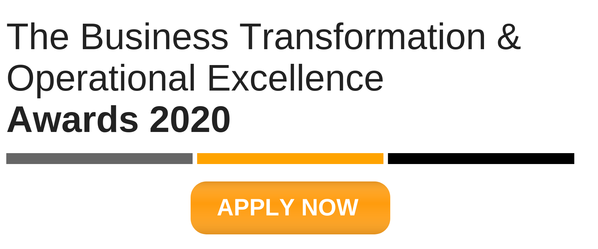 The Business Transformation & Operational Excellence Industry Awards